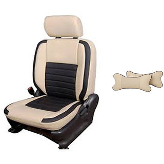 Autodecor Chevrolet Spark Beige  Leatherite Car Seat Cover with Neck Rest  Free