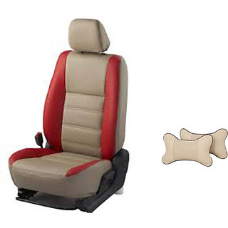 Autodecor Hyundai I20 Active Beige Leatherite Car Seat Cover with Neck Rest  Free