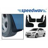 Speedwav Car Mud Flaps For Hyundai Verna Fludic Set Of Four Pieces