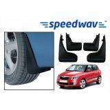 Speedwav Car Mud Flaps For Skoda Fabia Set Of Four Pieces