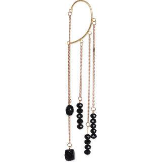 Ethnic Jewels Black Alloy Cuff Earring For Women