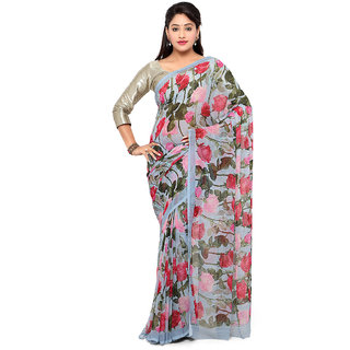 Vaamsi Multicolor Chiffon Printed Saree With Blouse