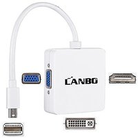LANBO Mini Display Port DP To DVI VGA HDMI TV AV HDTV A