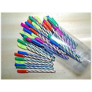 Set Of 10 Blue Ball Pen