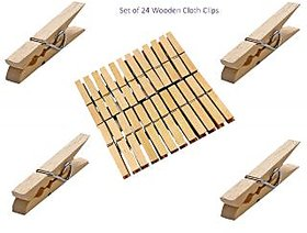 Wooden Cloth Clips ( Set of 24 )