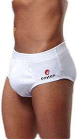 Omtex Sports Brief - Cricket Special Sports Brief With Inner Pocket - White - L