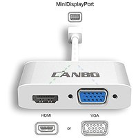 Lanbo Mini Display Port To HDMI VGA Adapter Converter C