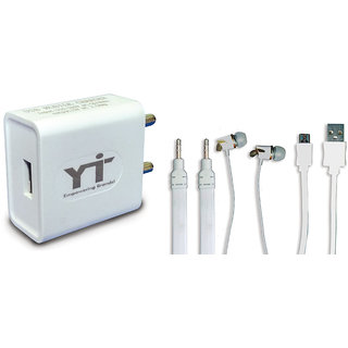 YTI Wall Charger Accessory Combo for HTC Desire 516 Dual