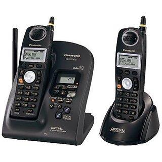 Panasonic KX TG 2632B 24 GHz Digital Cordless Phone 2 Piece Combo Answering