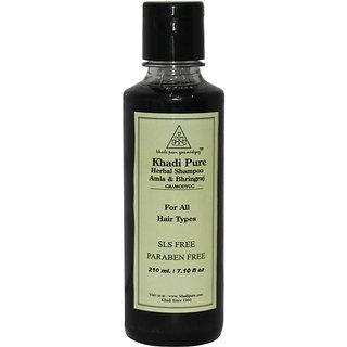 Khadi Pure Herbal Amla  Bhringraj Shampoo SLS-Paraben Free - 210ml