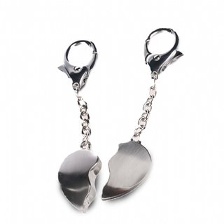 Split Heart Keychain- Two Keyrings In One