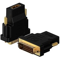 DVI To HDMI, Rankie 2-Pack Gold-Plated DVI To HDMI HDTV