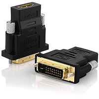 DVI To HDMI, Swees 2 Pack Gold-Plated DVI To HDMI HDTV