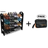 Frazzer Stackable Shoe Rack in 4 Layers and Get Multipurpose Travel Pouch Free