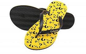 Crazeis Comfortable Yellow Slippers For Men'S.