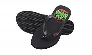 Crazeis Comfortable Black Slippers For Men'S.