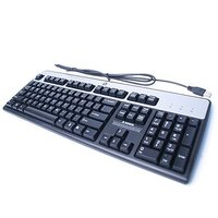 HP KU-0316 USB WIRED KEYBOARD 104 KEYS BLACK AND SILVER