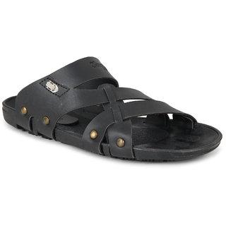Smart Wood men's black Casual Sandals