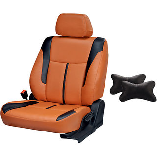 Autodecor Renault Pulse Orange  Leatherite Car Seat Cover with Neck Rest  Free