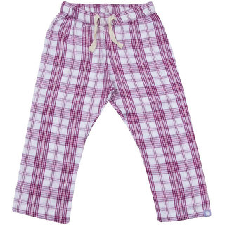 Hugabug Check Percale Pants in Organic Cotton