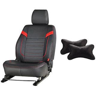 Autodecor Maruti  Vitara Brezza Black Leatherite Car Seat Cover with Neck Rest  Free