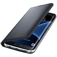 Samsung Galaxy On8 Premium Grade Black Leather Flip Cover