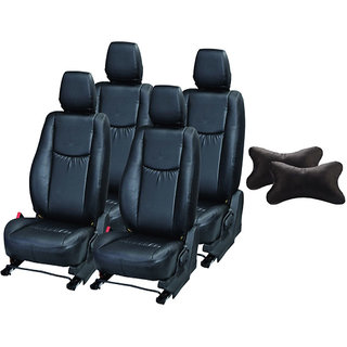 Autodecor Honda Mobilio Black Leatherite Car Seat Cover with Neck Rest  Free