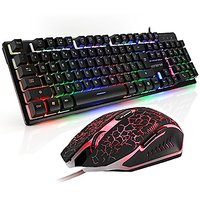 Gaming Keyboard And Mouse Combo, CORERIX Rainbow Color