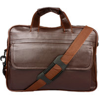 Frazzer 16 inch Laptop Messenger Bag (Brown)