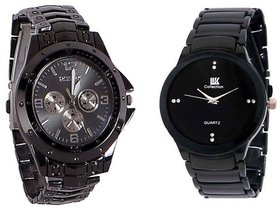 Authentic Rosra Black And IIk Collection Black Men Watches Combo Of 2 Watches