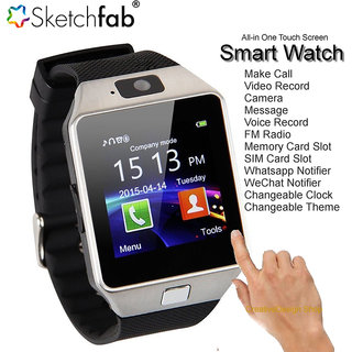 DZ09 Bluetooth Smart Watch Wrist Watch Phone with Camera SIM Card Support black