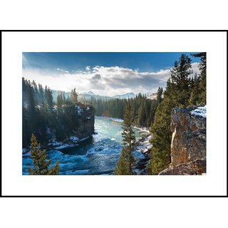 MYIMAGE Beautiful Natural Scene  Digital Printing  Framed Poster (13.0 inch x 19.0 inch)