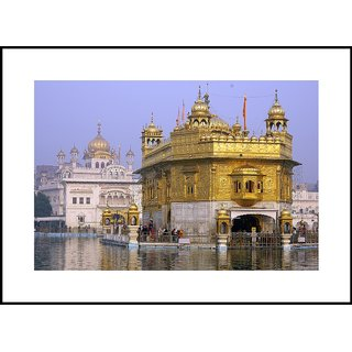 MYIMAGEGolden Temple Beautiful Digital Printing  Framed Poster (13.0 inch x 19.0 inch)