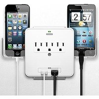 Smartphone Charging Station With Usb Outlet Multiplier