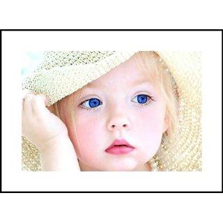 Buy Myimage Cute Baby Girl With Flowers Digital Printing Framed