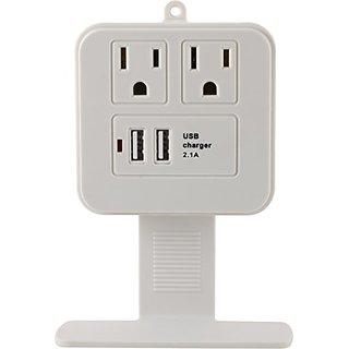 GE 14627 Surge Tap, 2 Outlets, 245J, USB, 2 Ports, 2.1A