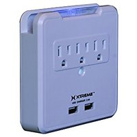 Xtreme XWS8-0109-WHT 3 Outlet Surge Wall Tap With 2 USB
