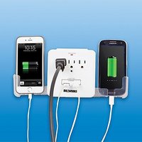 USB OUTLET MULTIPLIER (INCLUDES 3 OUTLETS, 2 USB PORTS