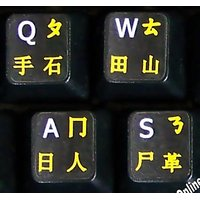 CHINESE-ENGLISH BLACK BACKGROUBD KEYBOARD STICKERS NON