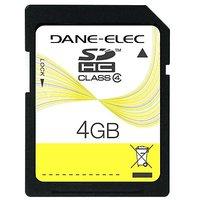 Dane-Elec 4 GB SDHC Flash Memory Card DA-SD-4096-R