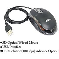Allen 3-Button 3D USB 800 Dpi Wired Optical Scroll Mice