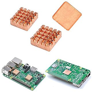 Raspberry Pi 23 Copper Heat Sink Heatsink With 3M Special Thermal Cooling Paste  Raspberry Pi 23 Copper Heat Sink Heatsink With 3M Special Thermal Cooling Paste    Material Copper available at ShopClues for Rs.904