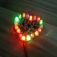 Gikfun Heart Shaped Flash Circuit Production Diy Kit 7