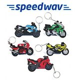Set Of 5 Superbike Shaped Rubber Keychains / Keyrings For Bikes