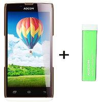 Combo Of Adcom A50 - White + APB 2200mAh Powerbank- Green