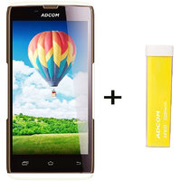 Combo Of Adcom A50 - White + APB 2200mAh Powerbank- Yellow