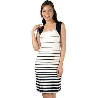 Magnetic Designs Stripe Bodycon Formal Dress