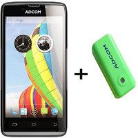 Combo Of Adcom A50 - Black + APB 4400mAh Powerbank- Green