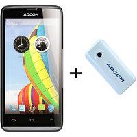 Combo Of Adcom A50 - Black + APB 4400mAh Powerbank- White