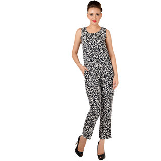 864e2ca09ee Black Printed Long Jumpsuit Prices in India- Shopclues- Online ...